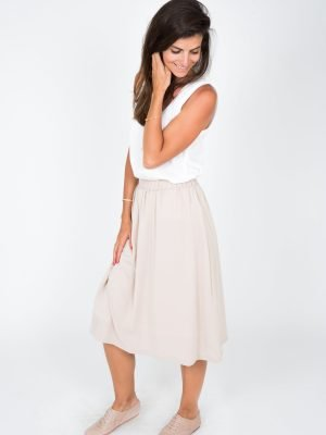 nude skirt for women fashion capsule by juliette