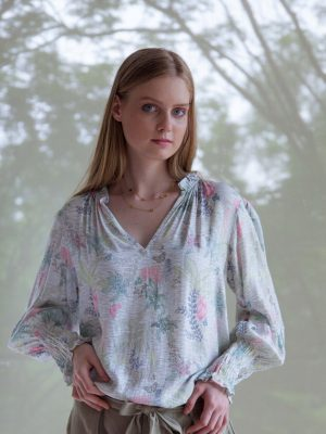 Constance top bliss multico print womens fashion capsule by juliette